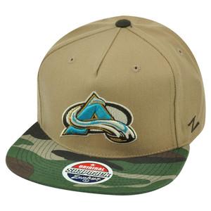 NHL Zephyr Colorado Avalanche Zuni 5 Panel Camouflage Flat Bill Snapback Hat Cap
