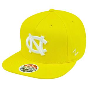 ebeed9aca0f NCAA North Carolina Tar Heels Yellow Snapback Flat Bill Zephyr Popsicle Hat  Cap