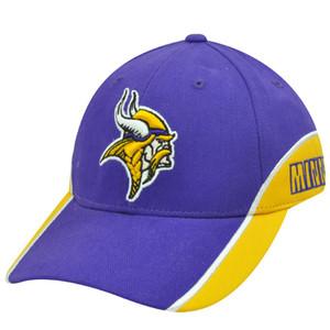 NFL Team Apparel Cotton Velcro Minnesota Vikings Purple Yellow White Constructed
