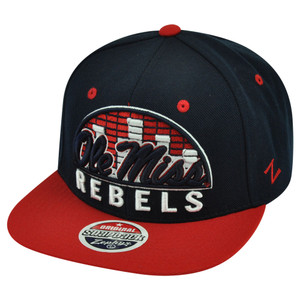 NCAA Zephyr Ole Mississippi Rebels Equalizer 32/5 Snapback Flat Bill Hat Cap