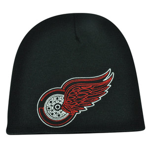 NHL Zephyr Detroit Red Wings X Ray Cuffless Beanie Knit Toque Skully Hat Black
