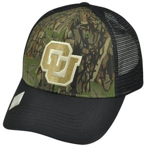 NCAA Colorado Buffaloes Freshman Trucker Camouflage Camo Mesh Snapback Hat Cap