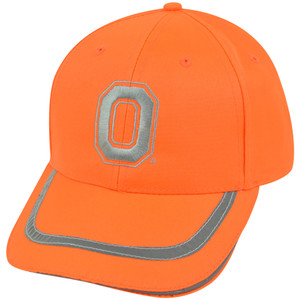 NCAA Ohio State Buckeyes Neon Orange Reflective Adjustable Velcro Bright Hat Cap