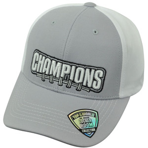 Football Champions College Plain Blank Velcro Top of the World Two Tone Hat Cap