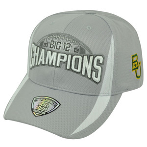 NCAA Baylor Bears BU 2013 Big 12 Football Champs Velcro Top of the World Hat Cap