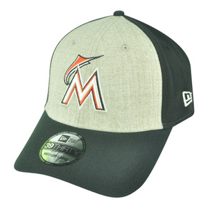 MLB New Era 39Thirty Miami Marlins Team Fronted Flex Fit M/L Stretch Hat Cap