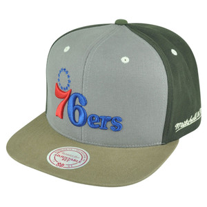 NBA Mitchell Ness Philadelphia 76ers NJ14 Tri Green Snapback Flat Bill Hat Cap