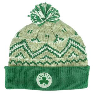 NBA Adidas Boston Celtics KE76Z Green Alpine Cuffed Pom Knit Beanie Toque Hat