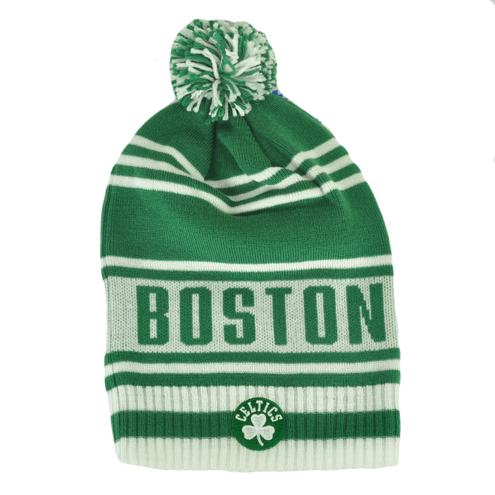 5881ec46473 NBA Adidas Boston Celtics KF09Z Green Cuffless Skully Pom Knit Beanie Toque  Hat. Price   15.95. Image 1