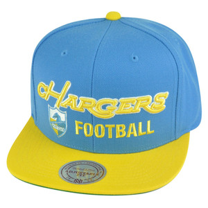 NFL Mitchell Ness San Diego Chargers NL24 Blocker Football Logo Snapback Hat Cap