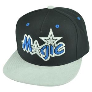 NBA Mitchell Ness Orlando Magic NT54 Grey Cord Visor Strapback Buckle Hat Cap