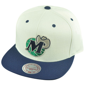 NBA Mitchell Ness HWC Dallas Mavericks NL16 Throwback Velcro Flat Bill Hat Cap
