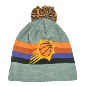 NBA Mitchell Ness Boost Long KL81 Cuffless Knit Pom Pom Beanie Phoenix Suns HWC