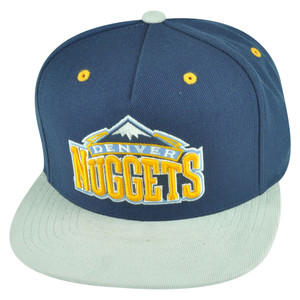 NBA Mitchell Ness Denver Nuggets NT56 Grey Cord Visor Strapback Buckle Hat Cap