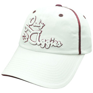 NCAA Texas A&M Aggies Lady Womens Garment Wash Slouch Relax Sun Buckle Hat Cap