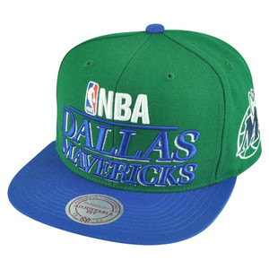 NBA Mitchell Ness HWC Dallas Mavericks NG78 Media Day Snapback Flat Bill Hat Cap