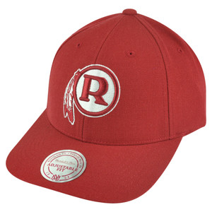 NFL Mitchell Ness Washington Redskins NJ33 Logo Solid Snapback Curved Hat Cap