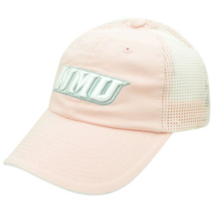 NCAA Western Michigan Broncos Mesh Garment Washed Ladies Velcro Pink Hat Cap