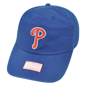 MLB Fan Favorite Philadelphia Phillies Shiver Blue Garment Wash Buckle Hat Cap