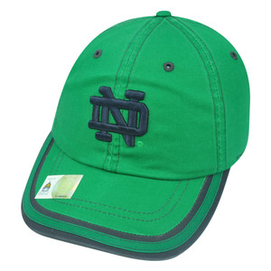 NCAA Notre Dame Fighting Irish Combi Garment Wash Strapback Buckle Green Hat Cap