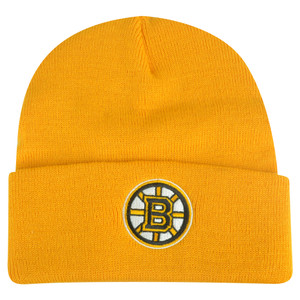 NHL Boston Bruins Cuffed Rice Mix Yellow Beanie Knit Hat Toque Skully Winter