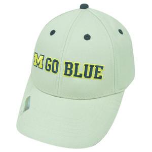 NCAA Michigan Wolverines Go Blue Twill Cotton Velcro College Strapback Hat Cap