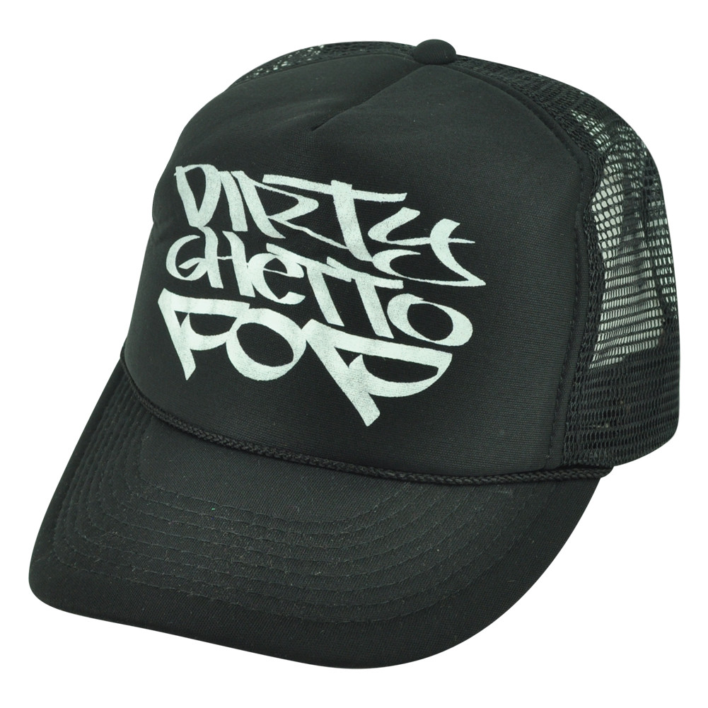 Dirty Ghetto Pop Graffiti Humor Funny Black Mesh Trucker Foam ... 027a28f533c5