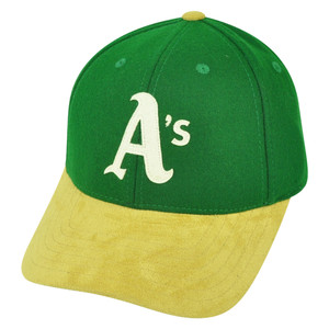 MLB Oakland Athletics Suede Bill American Needle Clip Buckle Two Tone Hat Cap