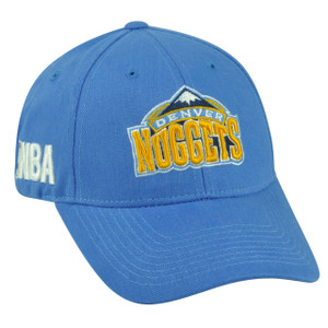 NBA Denver Nuggets Velcro Hat Cap Adjustable Light Blue HWC Masoli Game Day Fan