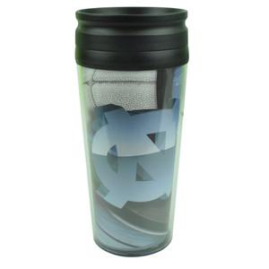NCAA North Carolina Tar Heels Acrylic Travel Tumbler 16 Oz Mug Coffee Drink Cups