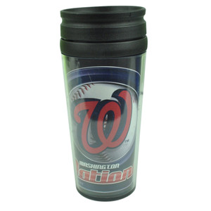 MLB Washington Nationals Acrylic Travel Tumbler 16 Oz Mug Coffee Drink Cups