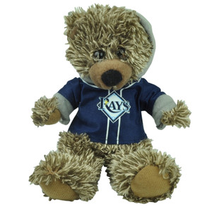"MLB Toronto Blue Rays Navy Hoodie Stuffed Plush Mini Teddy Bear 9"" Small Brown"