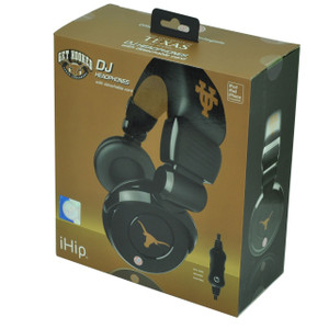 NCAA Texas Longhorns DJ Style Headphones Music Loud Iphone Microphone Black