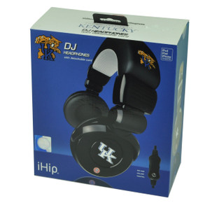 NCAA Kentucky Wildcats DJ Style Headphones Music Loud Iphone Microphone Black