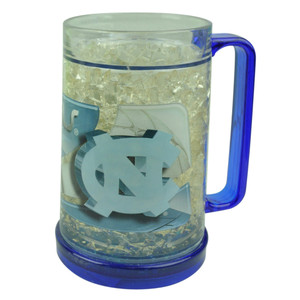 NCAA North Carolina Tar Heel Color Freezer Mug Crushed Ice 16oz Drinks Beers Cup