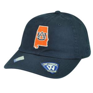 NCAA Auburn Tigers Top of the World Sun Buckle Garment Wash Navy Blue Hat Cap