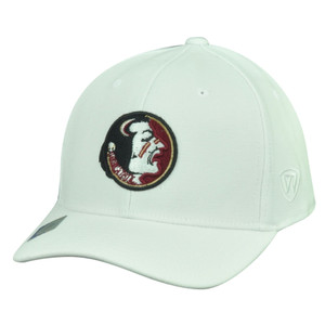 NCAA Florida State Seminoles Top the World Flex Fit Medium Large Hat Cap White