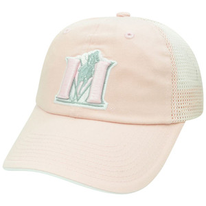NCAA Murray State Racers Ladies Garment Washed Mesh Pink Velcro Relaxed Hat Cap
