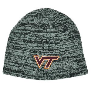 NCAA Virginia Tech Hokies Cuffless Heather Toque Knit Beanie Winter College Hat