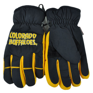 NCAA Colorado Buffaloes Two Tone Winter Snow Ski Gloves Thermal Insulation Large