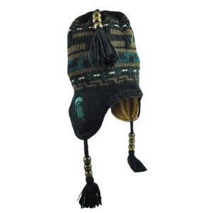 NCAA Michigan State Spartans Laplander Peruvian Aztec Fleece Beanie Knit Pom Hat