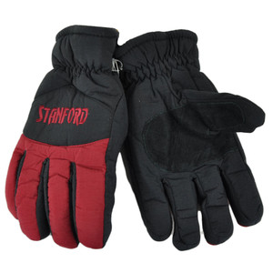 NCAA Stanford Cardinals Two Tone Winter Snow Ski Gloves Thermal Insulation L/XL