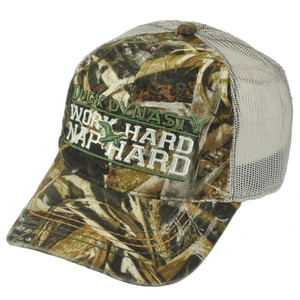 A&E TV Series Duck Dynasty Realtree Work Hard Nap Hard Mesh Camo Slouch Cap Hat