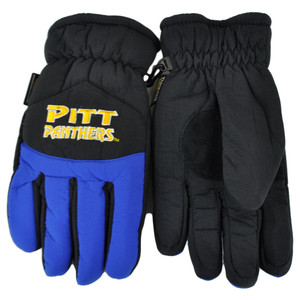 NCAA Pittsburgh Panthers Two Tone Winter Snow Ski Gloves Thermal Insulation S/M