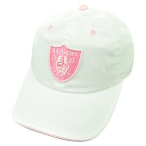 NFL Oakland Raiders Women Castel Clip Buckle Hat Cap Garment Wash Relaxed White
