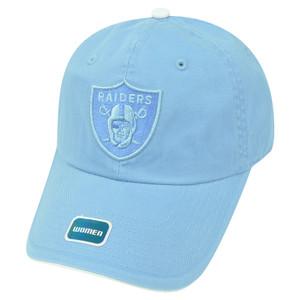 NFL Oakland Raiders Women Castel Clip Buckle Hat Cap Garment Wash Relaxed  Blue