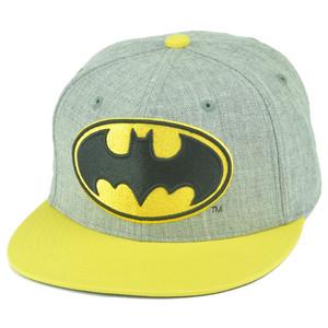 DC Comics Batman Dark Knight Rises Heather Leather Under Brim Snapback Hat Cap