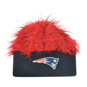 NFL New England Patriots Lure Fuzz Hair Headband Knit Beanie Fan Game Day Hair
