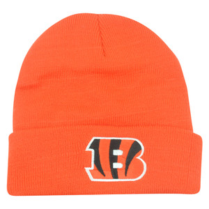 NFL Cincinnati Bengals Cuffed Knit Beanie Toque Orange Hat Football Winter Rice