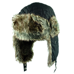 Aviator Bomber Faux Fur Blank Solid Hat Cap Ear Flap Trapper Size Small Medium